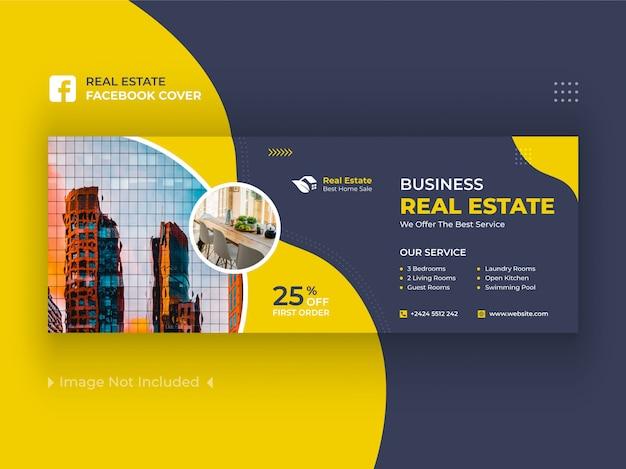 Banner di copertina di facebook immobiliari premium