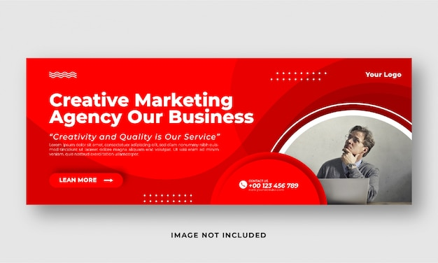 Banner di copertura di social media marketing aziendale digitale
