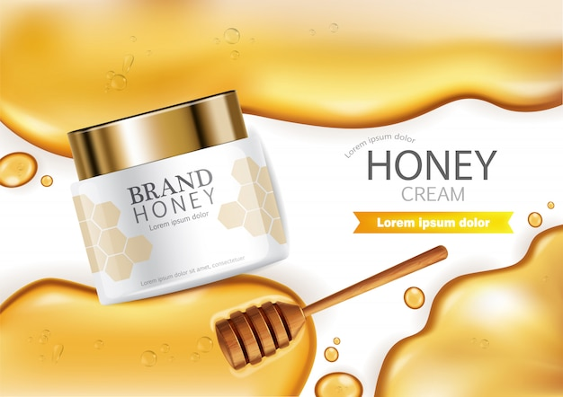 Banner di crema infusa al miele