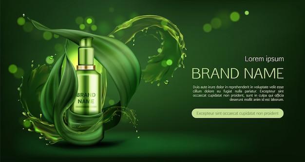 Banner di crema per la cura della pelle naturale