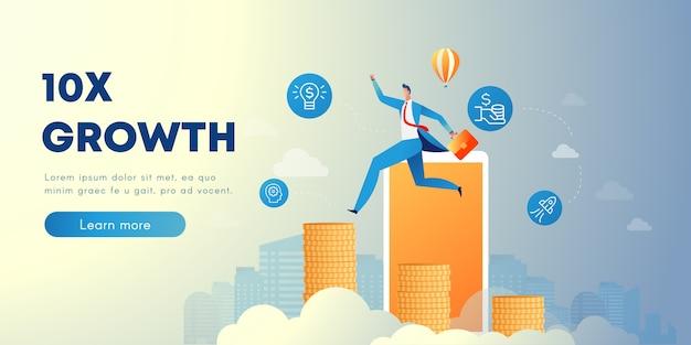 Banner di crescita aziendale
