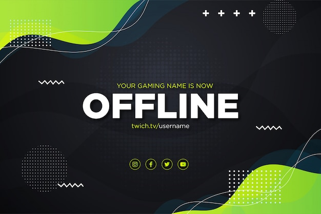 Banner di design colorato twitch offline gratis
