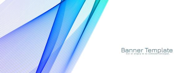 Banner di design moderno ed elegante onda