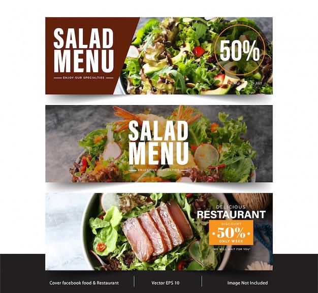 Banner di design per social network, copertina di facebook per pubblicità