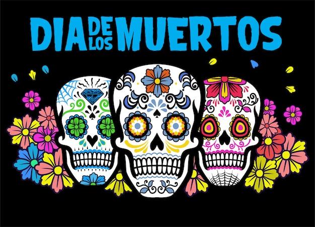 Banner di dia de los muertos