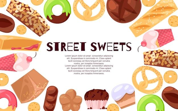Banner di dolci di strada
