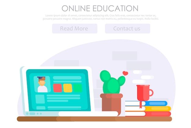 Banner di educazione online
