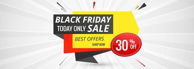 Banner di eleganza per le vendite sul modello del black friday