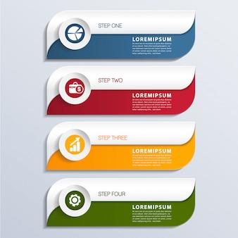Banner di elemento infographic moderno