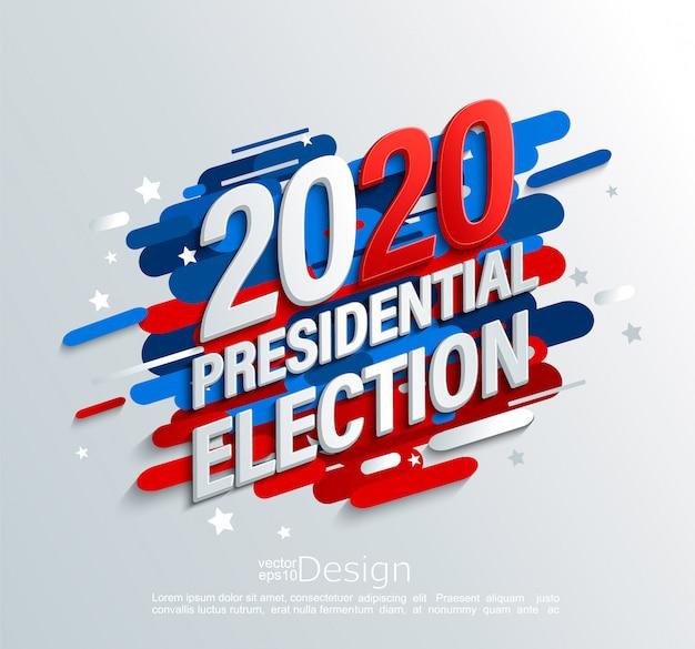 Banner di elezioni presidenziali usa 2020