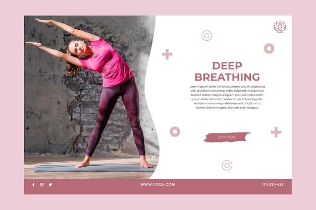 Banner di equilibrio del corpo yoga