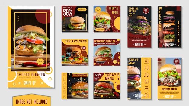 Banner di fast food