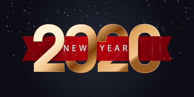 Banner di felice anno nuovo 2020