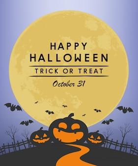 Banner di felice giorno di halloween