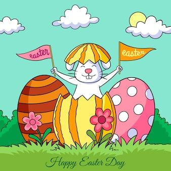Banner di felice giorno di pasqua