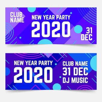 Banner di festa astratta di nuovo anno 2020
