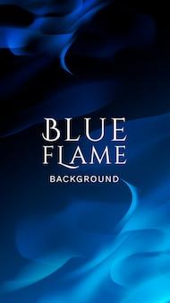 Banner di fiamma blu