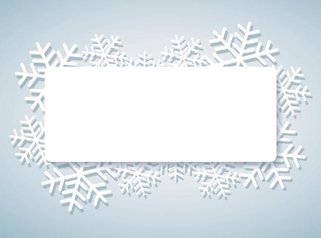 Banner di fiocco di neve per sfondo web