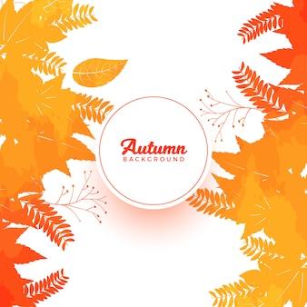 Banner di foglie colorate d'autunno