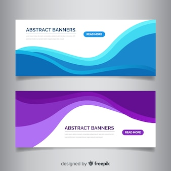 Banner di forme ondulate astratte