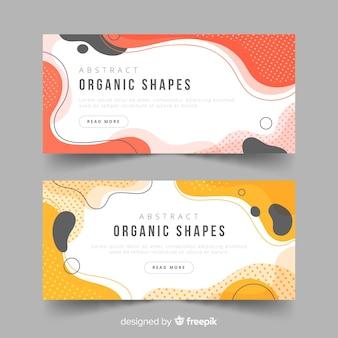 Banner di forme organiche astratte