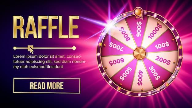 Banner di fortuna della roulette della lotteria di internet