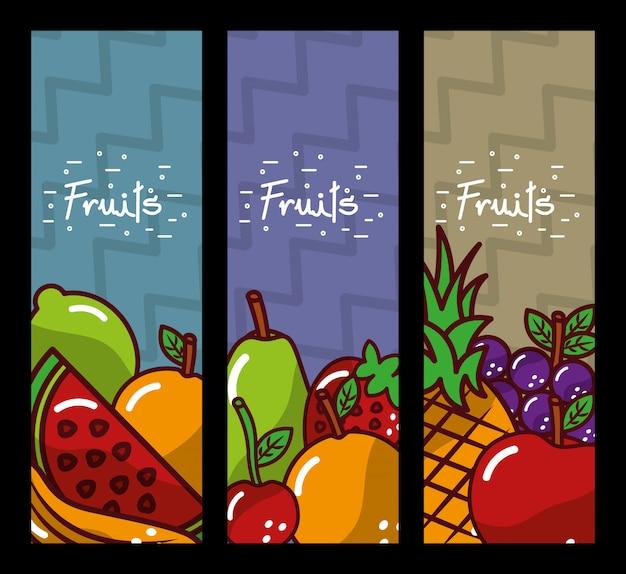 Banner di frutta nutrizione fresca e naturale