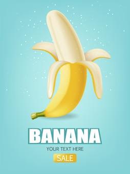 Banner di frutti di banana