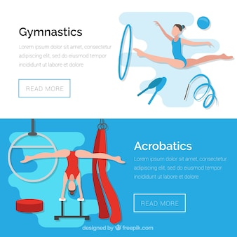 Banner di ginnastica e acrobazie