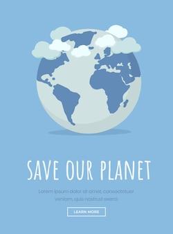 Banner di giornata internazionale della terra