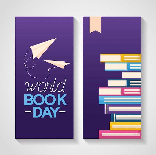 Banner di giornata mondiale del libro