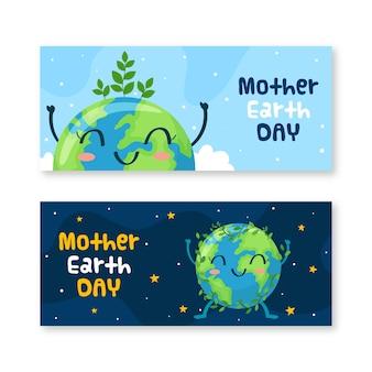Banner di giornata mondiale della salute disegnati a mano