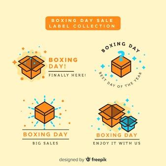 Banner di giorno di boxe di scatole piatte