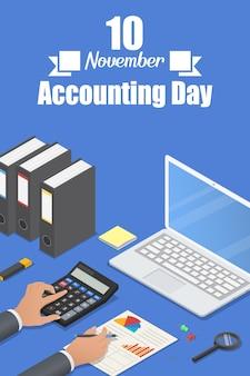 Banner di giorno di contabilità
