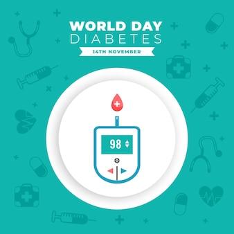 Banner di glucometro per la giornata mondiale del diabete