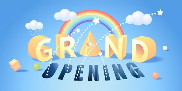Banner di grande apertura. elemento di design del modello per la cerimonia di apertura.