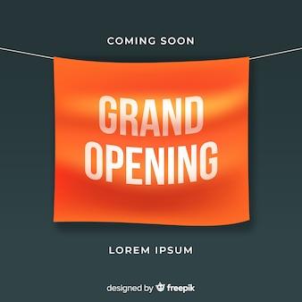 Banner di grande apertura in stile realistico