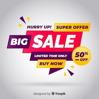 Banner di grande vendita in design piatto