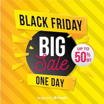 Banner di grande vendita venerdì nero sfumato