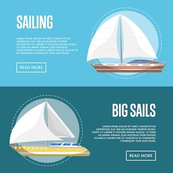 Banner di grandi vele con barche a vela
