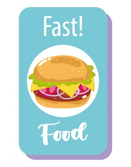 Banner di hamburger fast food