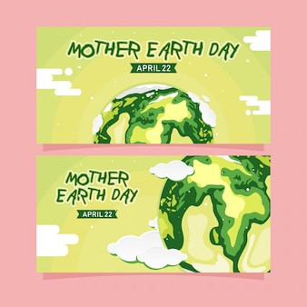 Banner di happy mother earth day