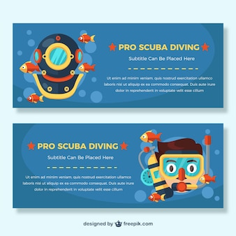 Banner di immersione subacquea