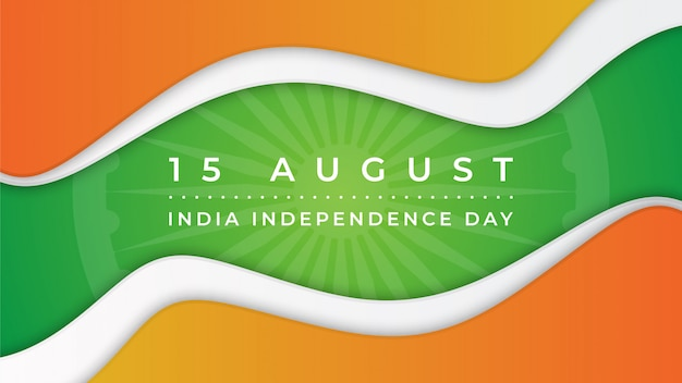 Banner di india independence day astract