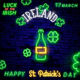 Banner di insegna al neon di birra