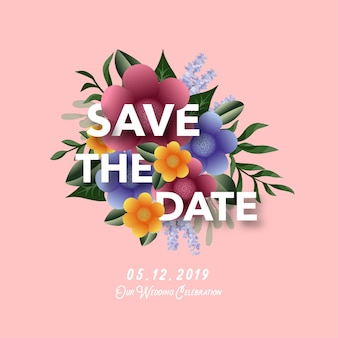 Banner di invito matrimonio floreale