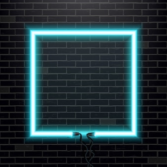 Banner di lampadina al neon.