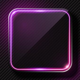 Banner di luce viola incandescente