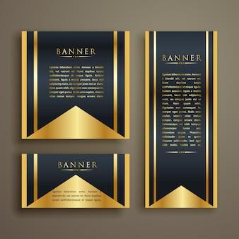 Banner di lusso design di set di tre