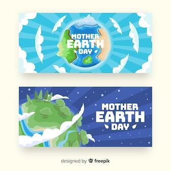 Banner di madre terra giorno